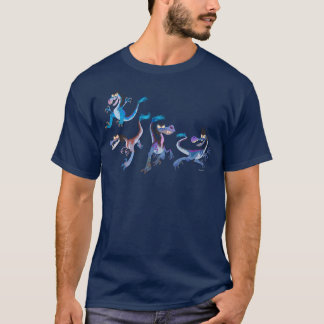 Raubvogel-Gruppen-Grafik T-Shirt
