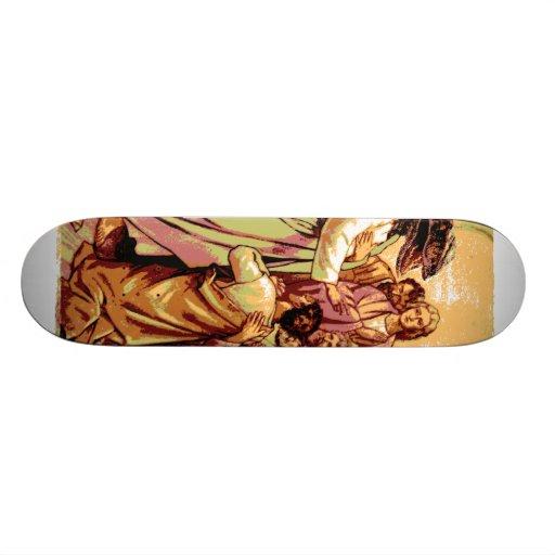 Raubvogel Jesus Skateboardbrett