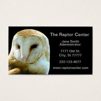 Raubvogel-Schleiereule-Profil Visitenkarte