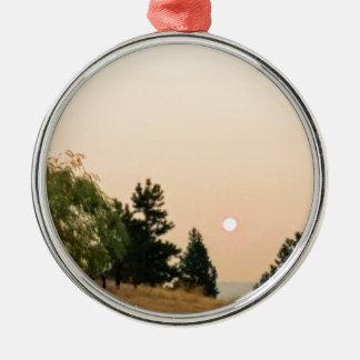 Rauch auf der Sonne Silbernes Ornament