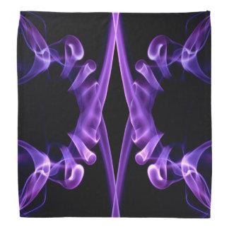 Rauch-Entwurfsmuster des Bandana lila abstraktes Halstuch