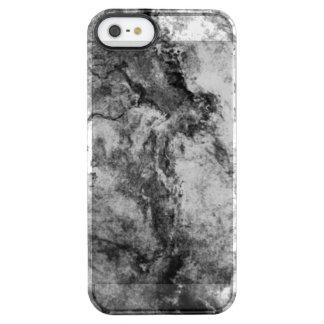 Rauch gestreiftes Schwarz-weißes Marmorsteinende Durchsichtige iPhone SE/5/5s Hülle