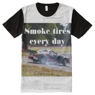 Rauch-Reifen jeden Tag Zombiata T-Shirt Mit Komplett Bedruckbarer Vorderseite