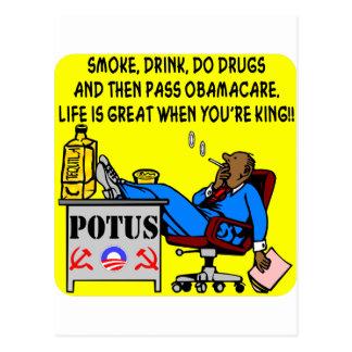 Rauchen Sie, trinken Sie, Drogen, Leben ist groß Postkarte