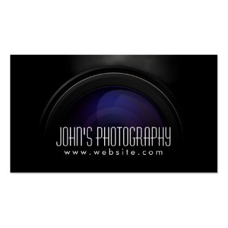 Rauchende Kameraobjektiv-Fotograf-Visitenkarte
