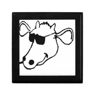 Rauchende Kuh mit Sonnenbrille Geschenkbox