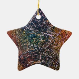 Rauchender Vulkan Keramik Stern-Ornament