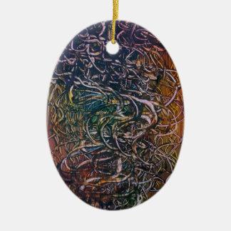 Rauchender Vulkan Ovales Keramik Ornament