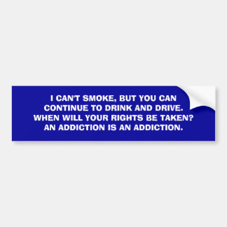 Raucher gegen Trinker Autoaufkleber