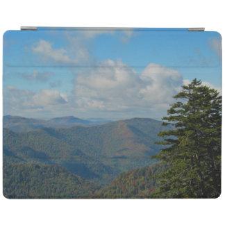 Rauchige Gebirgsfall-Landschaftsherbst-Blatt-Farbe iPad Hülle