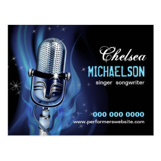 Rauchige Mikrofon-Ausführende fördernd Postkarte