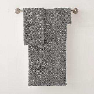 Rauchiges Grau-Block-Labyrinth-abstrakte Badhandtuch Set