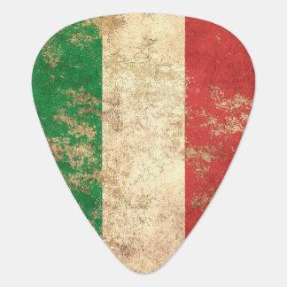 Raue gealterte Vintage italienische Flagge Plektron