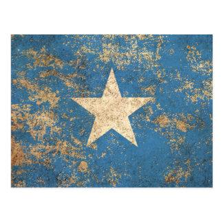 Raue gealterte Vintage somalische Flagge Postkarte
