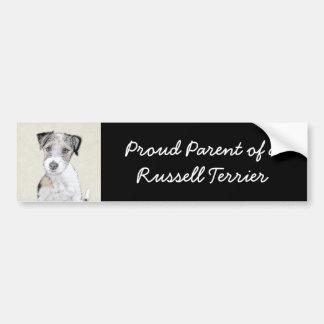 Raue Malerei Russells Terrier - ursprüngliche Autoaufkleber