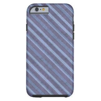 Rauer blauer lila Streifen stark Tough iPhone 6 Hülle