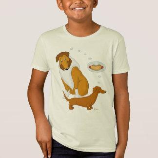 Rauer Collie-und Hotdog-Dackel T-Shirt
