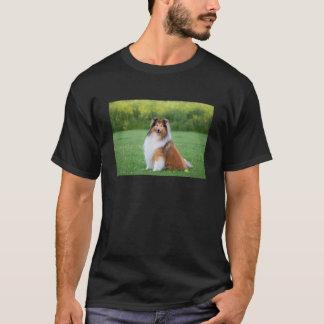 Rauer Colliehundeschöner Fotoschwarz-T - Shirt