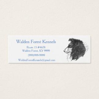Rauer Tricolor Collie Mini Visitenkarte