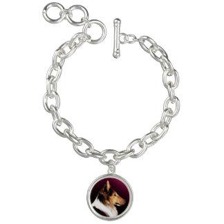Raues Collie-Porträt Charm Armband