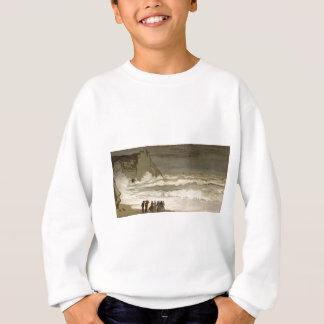 Raues Meer bei Etretat (1868-1869) Sweatshirt