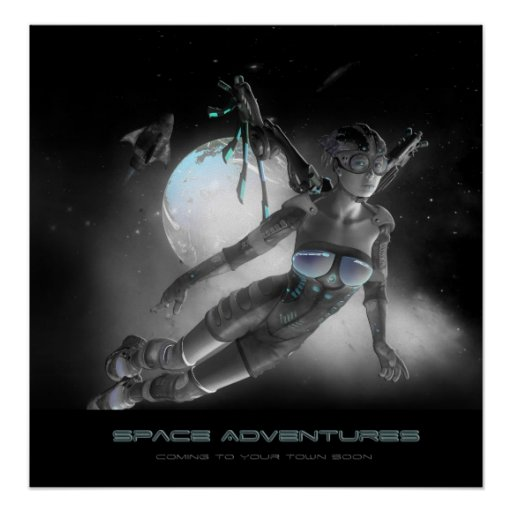 Raum-Abenteuer Plakat