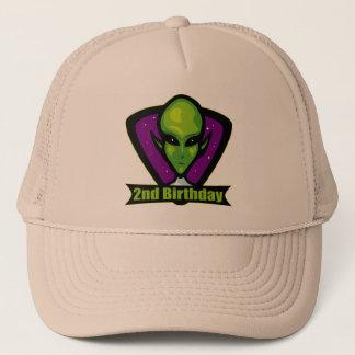Raum-alien-2. Geburtstags-Geschenke Truckerkappe