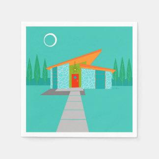 Raum-Alters-Cartoon-Haus-Cocktail-Servietten Papierserviette