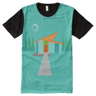 Raum-Alters-Cartoon-Platten-T - Shirt