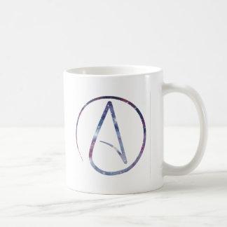 Raum-Atheisten-Symbol Tasse