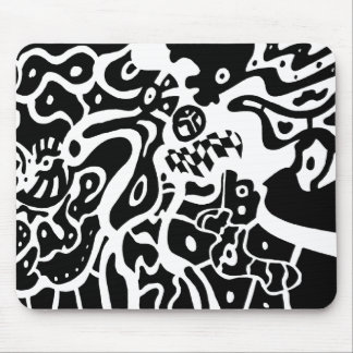 """Raum"" B&W abstrakte Kunst Mousepads"