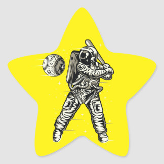 Raum-Baseball Stern-Aufkleber