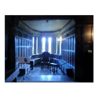 Raum bei Haddon Hall in Derbyshire Postkarte