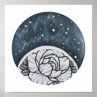 Raum-Blume Poster