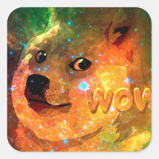 Raum - Doge - shibe - wow Doge Quadratischer Aufkleber
