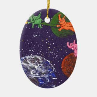 Raum-Elefanten Keramik Ornament