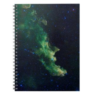 Raum-Galaxie-gewundenes Notizbuch Spiral Notizblock