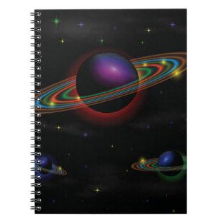 Raum-Hintergrund Spiral Notizblock