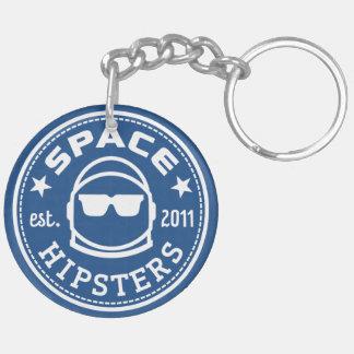 """Raum-Hipster 2"""" Keychain Beidseitiger Runder Acryl Schlüsselanhänger"""