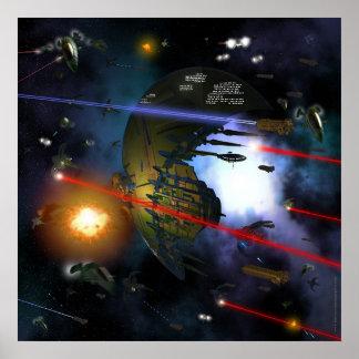 Raum-Kampf Plakatdrucke