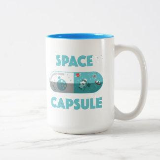 Raum-Kapsel Zweifarbige Tasse