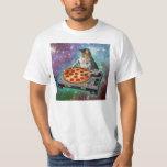 Raum-Katze DJs Pizza T Shirt