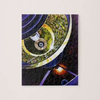 Raum-Kolonien-Grafik Puzzle