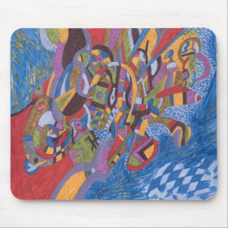Raum-Krake, abstrakt Mousepad