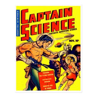 Raum-Krieger-Vintages Science Fiction-Comic Postkarten