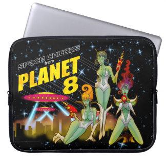 Raum-Küken vom Laptopkasten des Planeten 8 Laptopschutzhülle