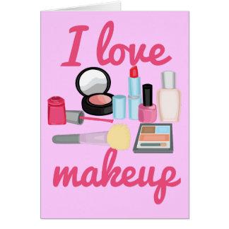 Raum-Mitteilungskarten Make-up der Liebe I Karte