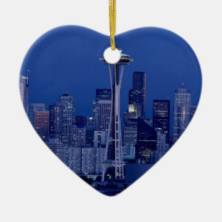 Raum Neddle Seattle Keramik Herz-Ornament