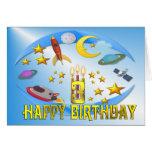 Raum-Reise ~ 3. Geburtstags-Karte