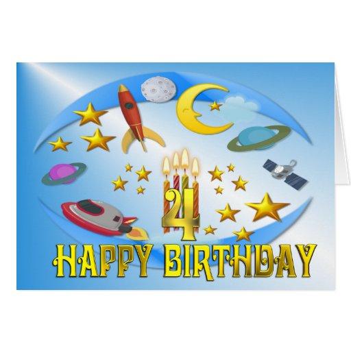 Raum-Reise 4.. Geburtstags-Karte